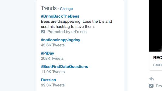 #Piday is trending on twitter showing 208000 tweets