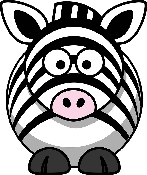 zebra that is not a turtle and has quite normal eyes