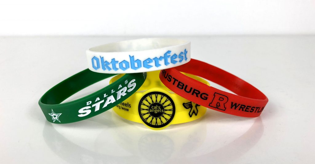 Wristbands with eye-catching colors