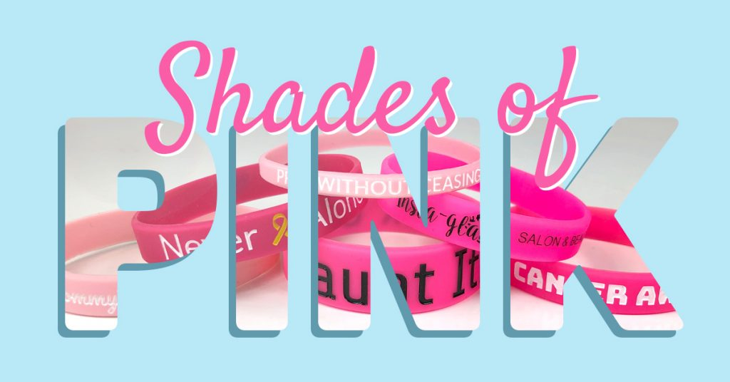 Shades of Pink Wristbands